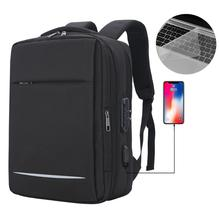 15.6 Inch Laptop Backpack With Lock Anti Theft Backpack Men Travel Bag Reflective School Bag For Teenage Backpack Male Mochila tangcool fashion backpack 15 inch laptop backpack men travel backpack with waterproof cover school bag male mochila