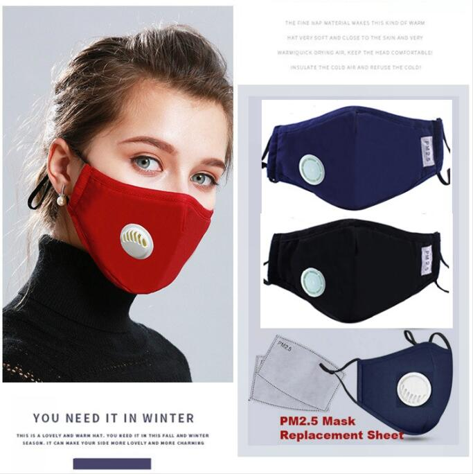 PM2.5 Pollution Prevention Mask Dust Respirator Washable Reusable Mask Cotton Unisex Mouth Muffle Allergy/Asthma/Travel/ Cycling