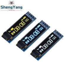 "ShengYang 1pcs modulo OLED da 0.91 pollici 0.91 ""bianco blu OLED 128X32 modulo Display a LED LCD OLED 0.91"" IIC comunicare"