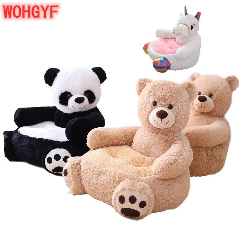 Infant Baby Chair Toddler Seat Children Seat Sofa With Filling Kids Bean Bag Comfort Plush Cartoon Bear Unicorn Panda Upscale