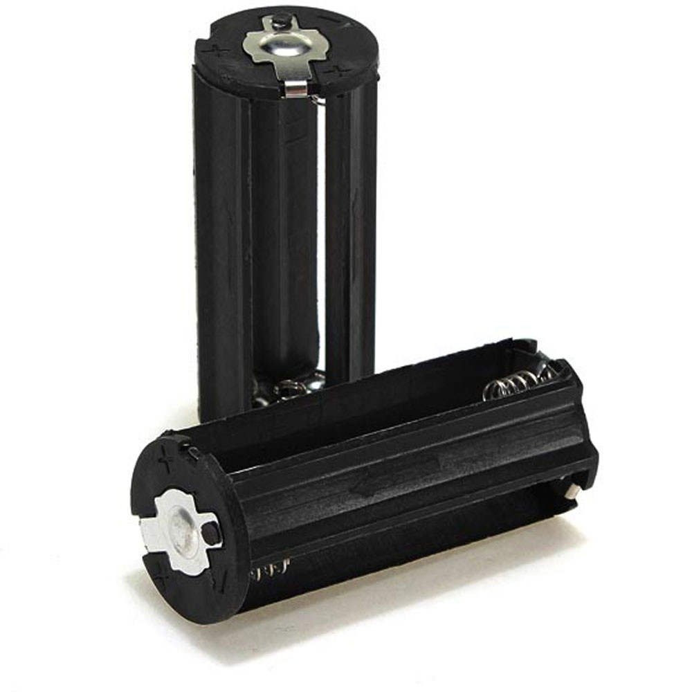 OMESHIN Simplestone Black Cylindrical 3 AAA Plastic Battery Holder Adapter Case Box Flashlight Lamp