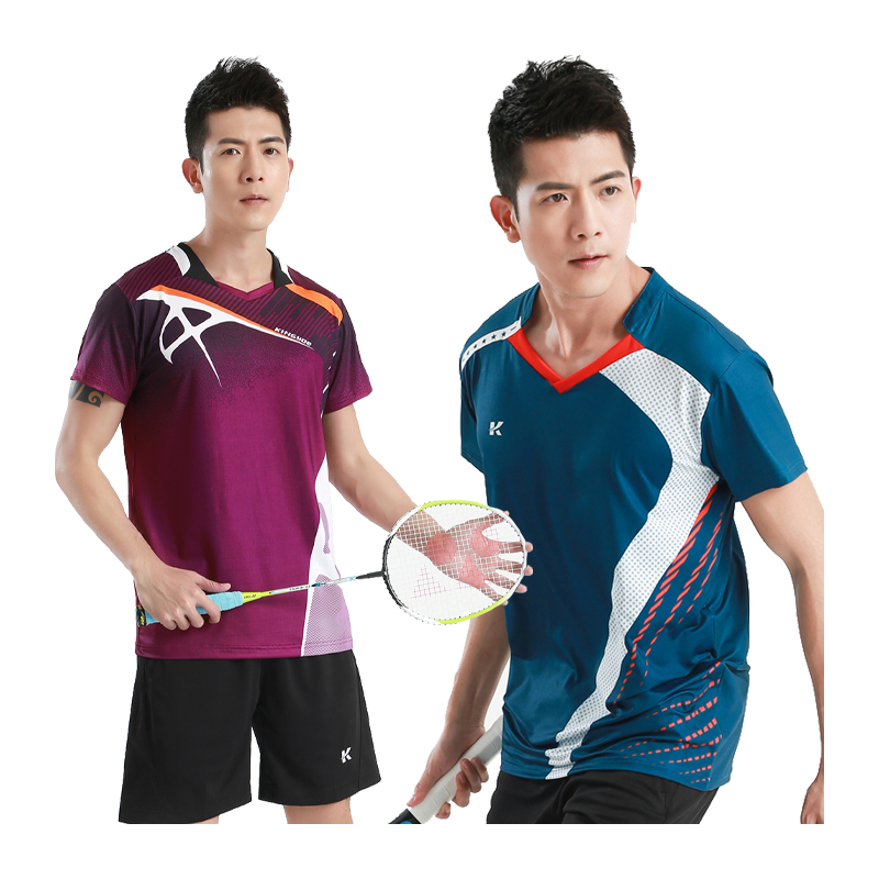Breathable Table Shirts Uniforms Men Badminton Sports Running Short Sleeves Outdoor Slim Fit Tops Quick Dry Fitness Training Tee