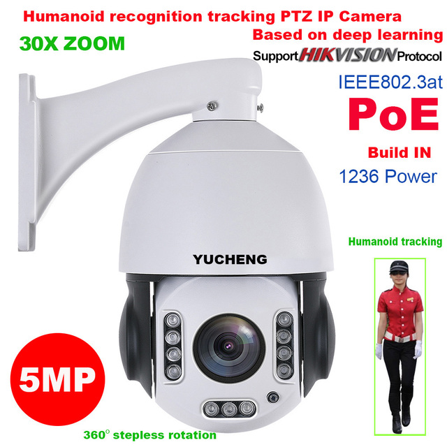 SONY IMX335 30X ZOOM 5MP Hikvision protokolü 25fps PoE insan tanıma otomatik takip WIFI PTZ hız dome IP kamera gözetim