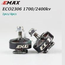 Novo 100% original 1 pçs emax motor sem escova para fpv corrida zangão eco motor da série 2306 1700kv 2400kv rc