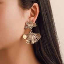 Ginkgo Leaves Flower Earrings New Street beat Personality Simple Geometric Temperament Women's Creativity Fashion Wild Earrings