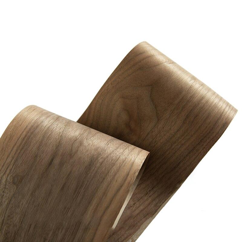 250 cm natural preto nogueira folheado fino feito à mão diy painel decorativo de madeira maciça pele falante renovação