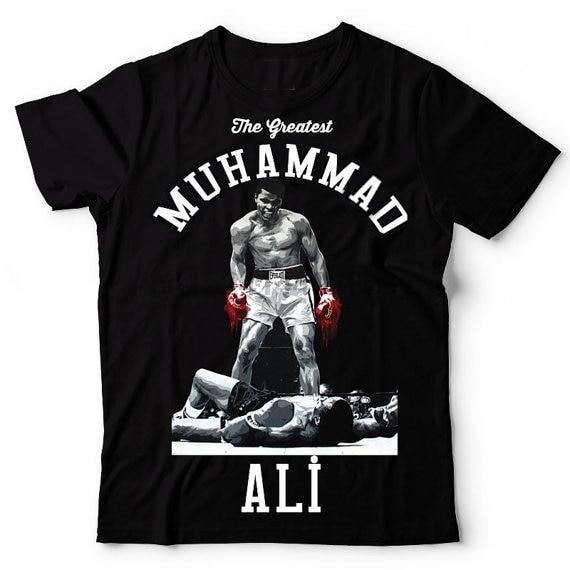 Мужская футболка с коротким рукавом и принтом «mahammad Ali», хлопковая футболка