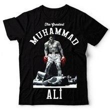Muhammad Ali T Shirt Homens O Maior Aptidão Manga Curta Impresso Camisa de Algodão Top Tee