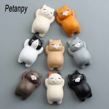 1PC refrigerator Fat cat Funny Cartoon Animals Cat Fridge Magnetic Sticker Refrigerator Holder Gift Home Decor cute Kid gift