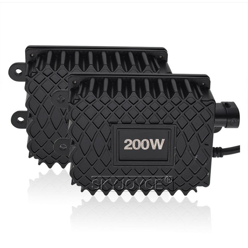 SKYJOYCE High Power 200W Xenon HID Headlight Ballast 12V Car Light Xenon Slim Digital Replacement Ballast For H1 H3 H4 H7 H11 (2)