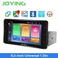JOYING one din car radio Android 8.1 stereo 6.2 inch head unit universal 1GB RAM 16GB ROM GPS navigationautoradio audio player