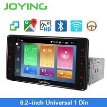 Radość jeden din radio samochodowe Android 8.1 stereo 6.2 cala jednostka główna uniwersalny 1GB RAM 16GB ROM nawigacja GPS autoradio odtwarzacz audio