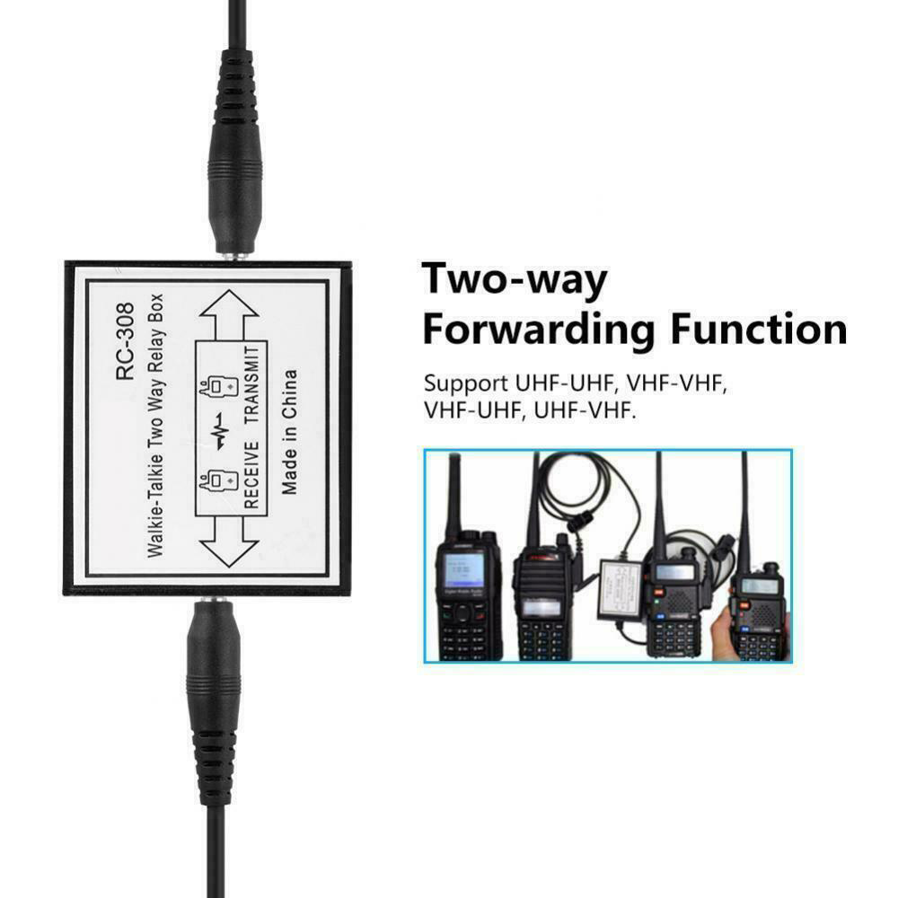 Newest RC-308 Two Way Radio Relay Walkie Talkie Repeater Box K Port For Two Handheld Radio Baofeng UV-5R BF-888S KENWOD TYT