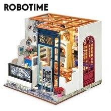 Robotime Rolife-casa de muñecas con muebles para niños y adultos, casa de muñecas en miniatura, juegos de madera DG143