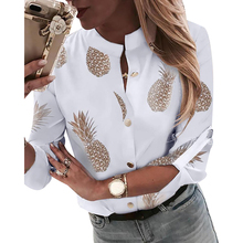 Work Blouse Women Shirt Tops 2019 Stand Collar Long Sleeved Office Blouses Tops For Ladies Work Button Female Blouses D30 цена