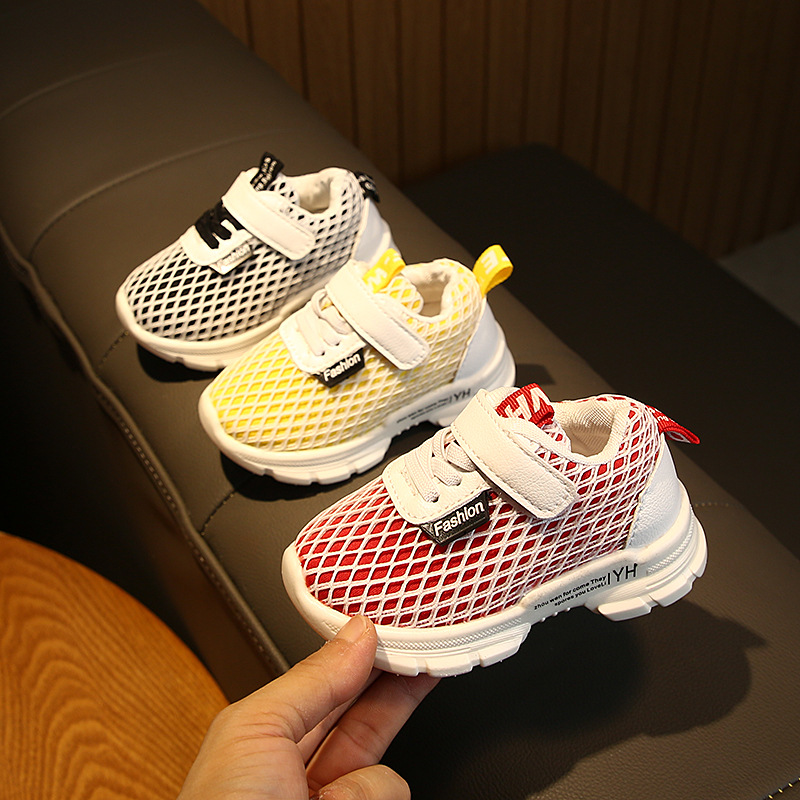 Autumn Baby Shoes Baby Soft Bottom Toddler Shoes 1-3 Years Old Children Sports Mesh Sports Shoes
