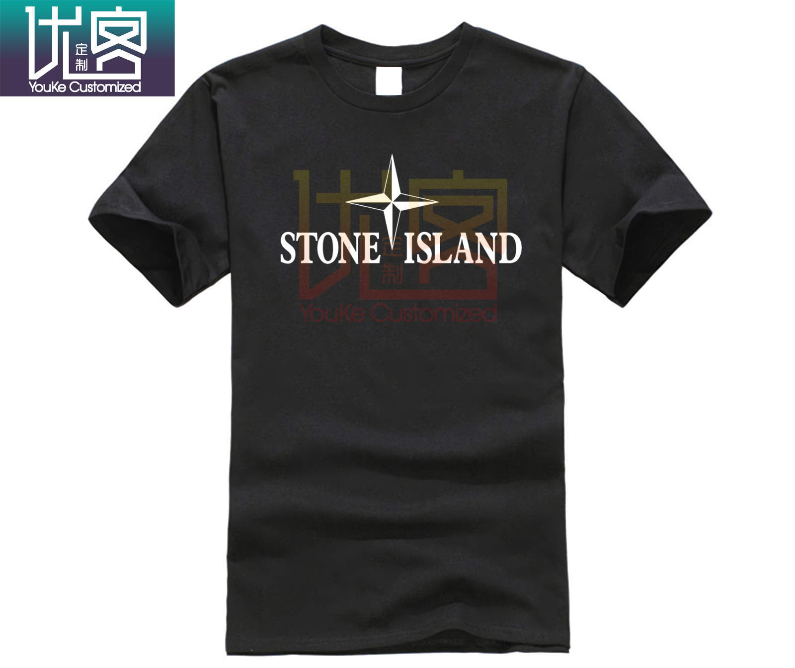 2019 Cool Stone Compass Chest Large Print Short Sleeve Island Tee Men Women Couples T Shirt