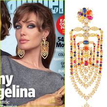 GODKI 75mm MAXI Size Charms Luxury Link Chain Tassel Drop Earring Women Full Mirco CZ Paved Cubic Zircon Wedding Fashion Jewelry