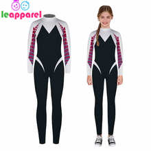 LEAPPAREL Funny Spiderman Bodysuit 3D Print Halloween Cosplay Costume Boys Girls Long Sleeve Clothes Festival Party Jumpsuit
