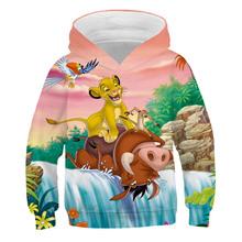 Rodzina Kisd zestaw dla dzieci król lew bluzy z kapturem z nadrukiem 3D bluzy Cartoon Simba nala spodnie baby boy dziewczyna rekreacyjne bluzy tanie tanio PINSHUN Na co dzień Poliester Pasuje prawda na wymiar weź swój normalny rozmiar REGULAR Unisex Pełna