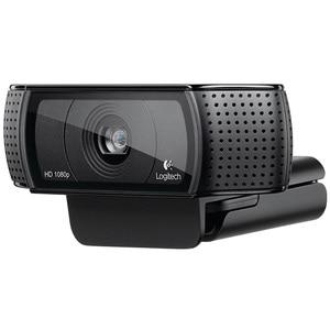 Веб-камера Logitech C920 Pro HD Smart 1080p, Широкоформатная веб-камера Skype для видеозвонков, ноутбука, Usb камера 15 МП, веб-камера