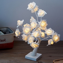 LED Night Light Table Lamp LED Fairy Lights Rose Flower Desk Tree Lamp Gift For Holiday Christmas Valentine #8217 S Day Night Lights cheap DesertCreations CN(Origin) Wedding Engagement St Patrick s Day Grand Event House Moving Birthday Party Valentine s Day