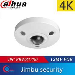 DAHUA 12MP DH IPC EBW81230 IP panoramiczne rybie oko kamery angielska wersja H.265 POE IR10m IP67 mini kamera pamięć micro sd IK10 w Kamery nadzoru od Bezpieczeństwo i ochrona na