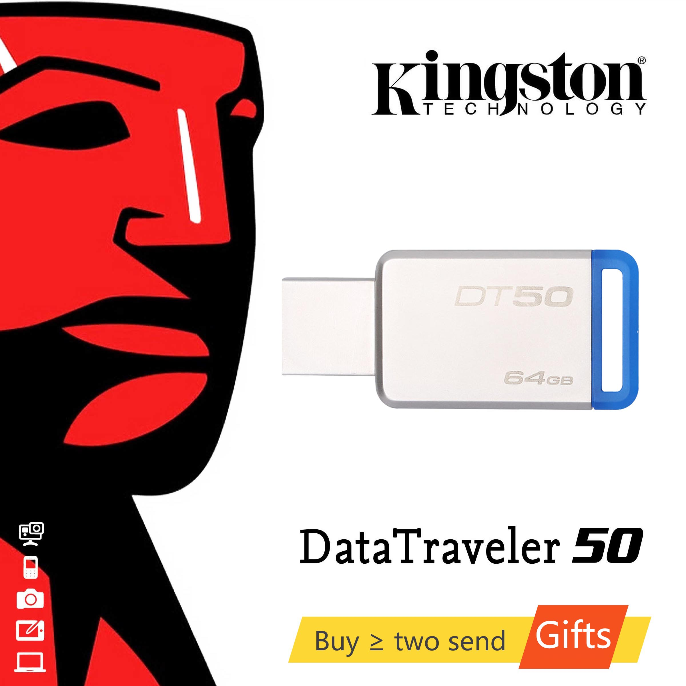 KINGSTON Pendrive 64GB <font><b>USB</b></font> <font><b>3.1</b></font> High Speed 16G <font><b>USB</b></font> <font><b>Flash</b></font> Drive 128GB/64GB/32GB/16GB/8GB Real Capacity 32G Pendrive <font><b>USB</b></font> Stick 128G image