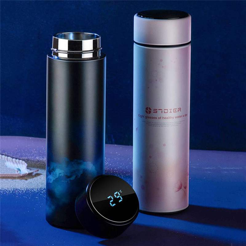 450ML Smart Mug Stainless Steel Water Thermal Bottle With LCD Touch Screen Temperature Display Vacuum Cup For Winter