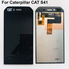 Caterpillar CAT S41 용 4.7 인치 인치 전체 LCD DIsplay + Cat S41 lcd 용 추적 기능이있는 터치 스크린 디지타이저 어셈블리