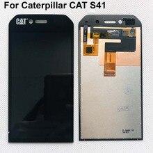Pantalla LCD completa de 4,7 pulgadas para Caterpillar CAT S41, montaje de digitalizador con pantalla táctil, con seguimiento para Cat S41, lcd Original