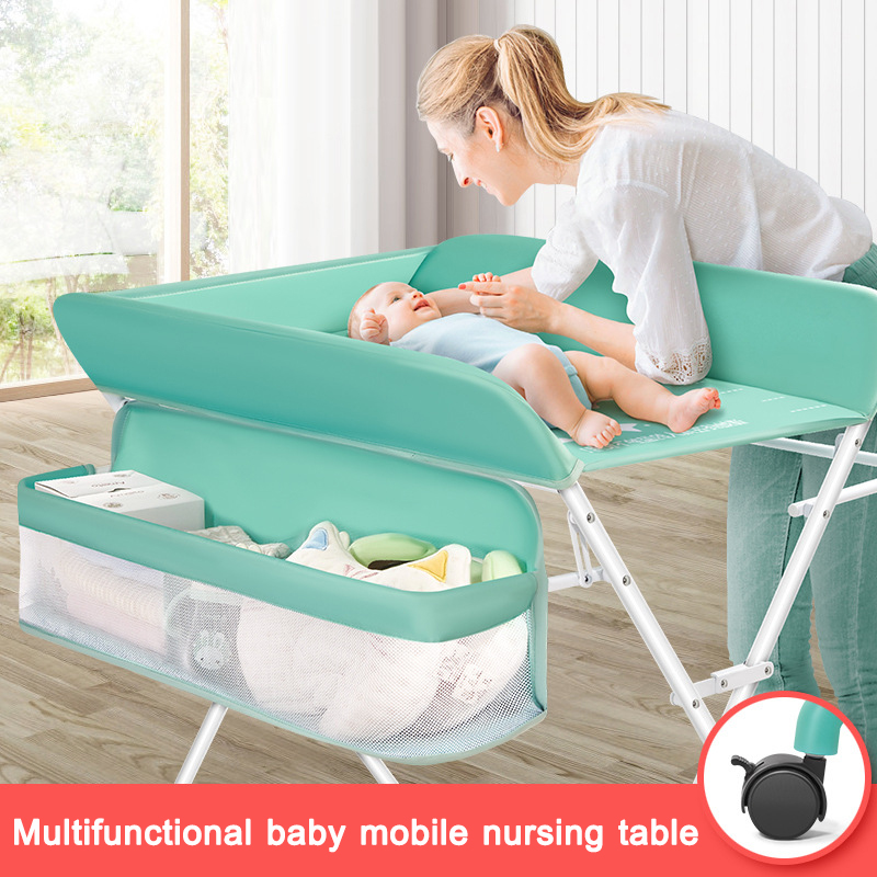 Baby Care Table Portable Crib Baby Diaper Table Foldable And Adjustable Baby Bed Infant Massage Locker Platform
