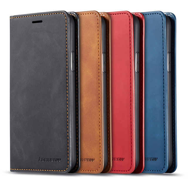 Luxury Skin Leather Case For iPhone SE 2020 12 Mini 11 Pro XR XS Max 8 7 6 6s Plus 5 5s Flip Wallet Card Slots Book Phone Cover 21