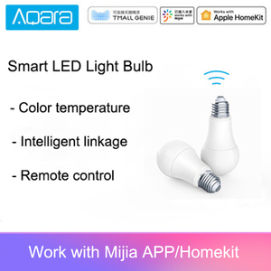 Image 1 - الأصلي Aqara 9 واط E27 2700K 6500K 806lum الذكية الأبيض اللون LED لمبة إضاءة العمل مع عدة المنزل وتطبيق MIjia