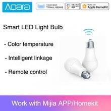 Orijinal Aqara 9W E27 2700K 6500K 806lum akıllı beyaz renk LED ampul ışık ile çalışmak ev kiti ve MIjia app
