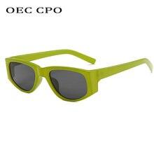 Oec cpo Винтажные Солнцезащитные очки кошачий глаз женские модные