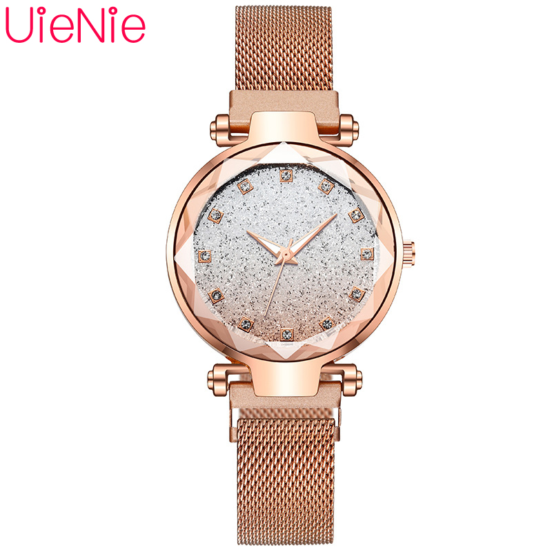 Women Watch Fashion Wild Starry Sky Numeral Milan Magnet Buckle Luxury Fashion Ladies Geometric Mosaic Diamond Quartz Watch