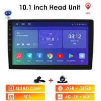 Ossuret 10,1 pulgadas Android 9,0 Quad Core 1 + 16G reproductor Multimedia estéreo de coche 2DIN bluetooth WIFI GPS Nav Radio Video Player BT