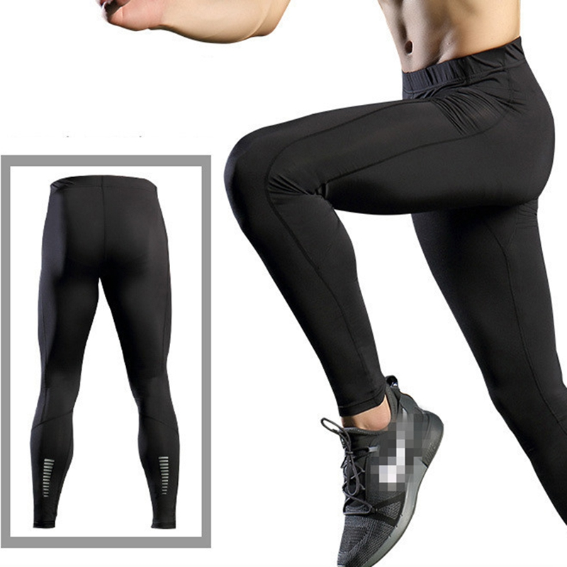 Men/'s Compression Athletic Tights Running Base Layers Long Pants Spandex Dri fit