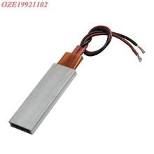 1pc 220V constant temperature PTC heater with Aluminium Shell 60*21mm 60C 80C 100C 120C 150C 170C 200C 230C 270C 25W 35W-160W
