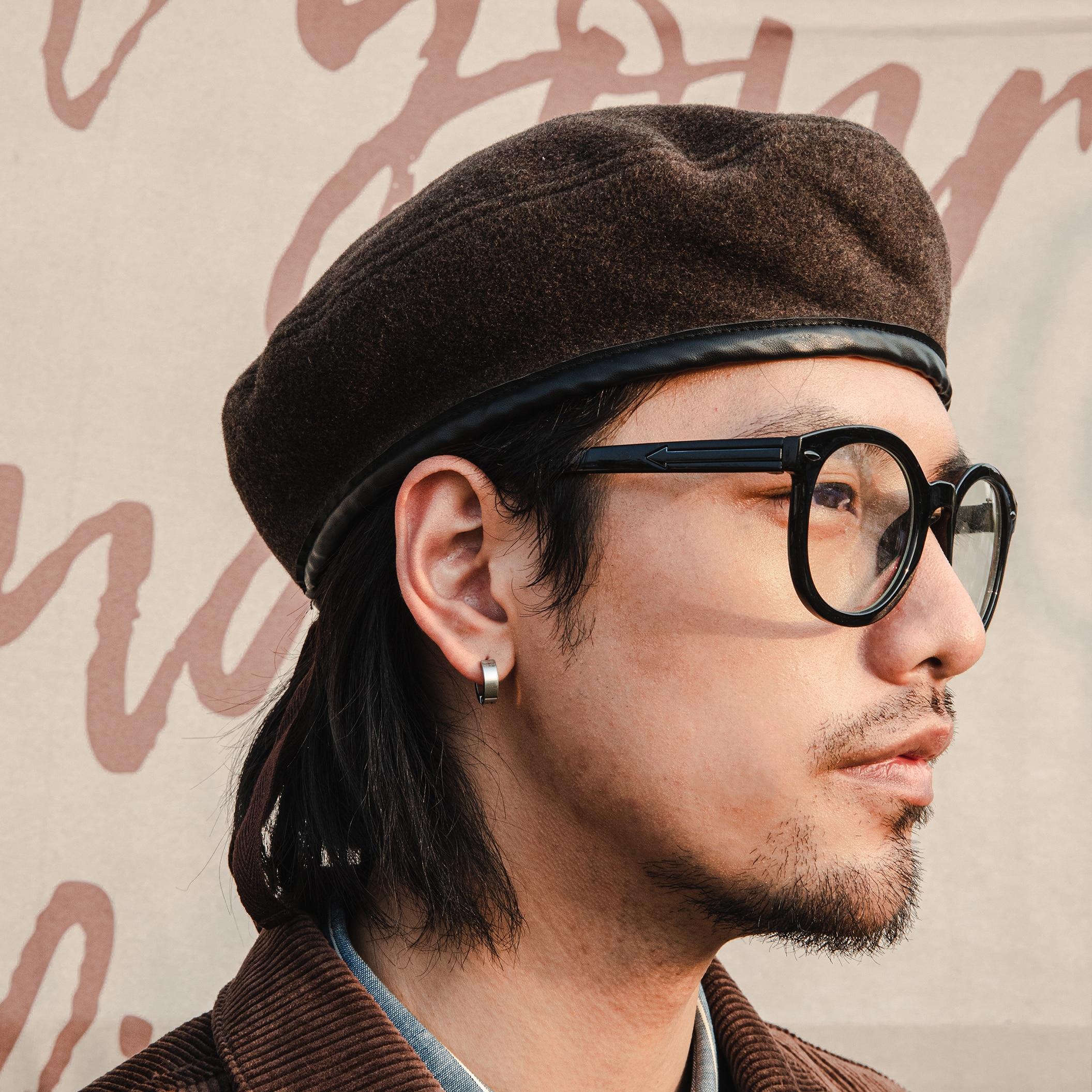HAT-0004 Classic Super Quality Vintage Stylish Adjustable 50% Wool Cap