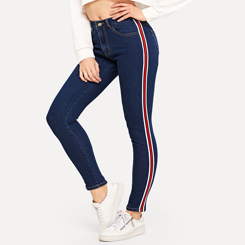 2019 Cross Border New Style AliExpress Amazon Hot Sales High Waist Jeans Europe And America Foreign Trade Export Small Feet Long