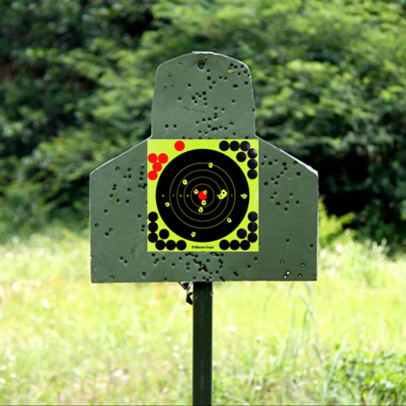10pcs Rifle Shoot Target 8Inch Pistol Binders Adhesive Lightweight Shoot Target Portable Durable Aim For Reactivity Shoot Target