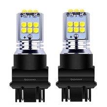 2 шт. T25 3157 3156 3057 3457 4157 P27/7 Вт P27W супер яркий 1800LM LED-камера заднего вида для автомобиля лампы Габаритные огни лампы сигнала поворота