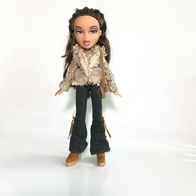 new 23cm dolls Original mgadoll Rare white hair Big lips Leisure gir Fashion Bratz Doll Action Figure doll Best Gift 3
