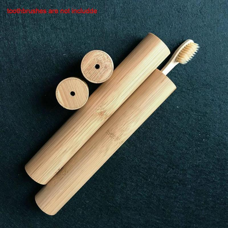 Bamboo Toothbrush Novelty Wooden Teeth Brush Soft-bristle Fibre Bamboo Toothbrush Handle Charcoal Bambo Box Set Wooden Tube R1E6 image
