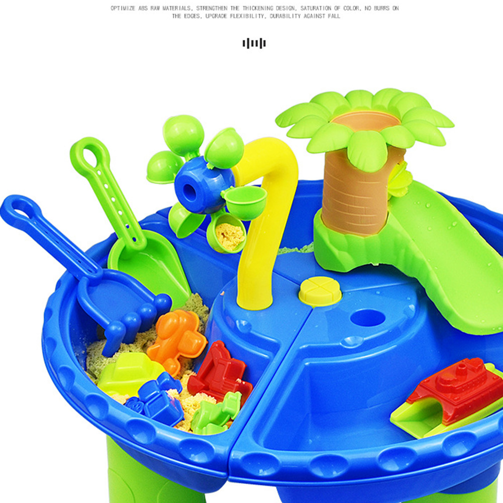 22pcs Digging Pit Sand Table Water Colorful Summer Kids Gift Beach Toy Set Seaside Garden Detachable Outdoor Activity