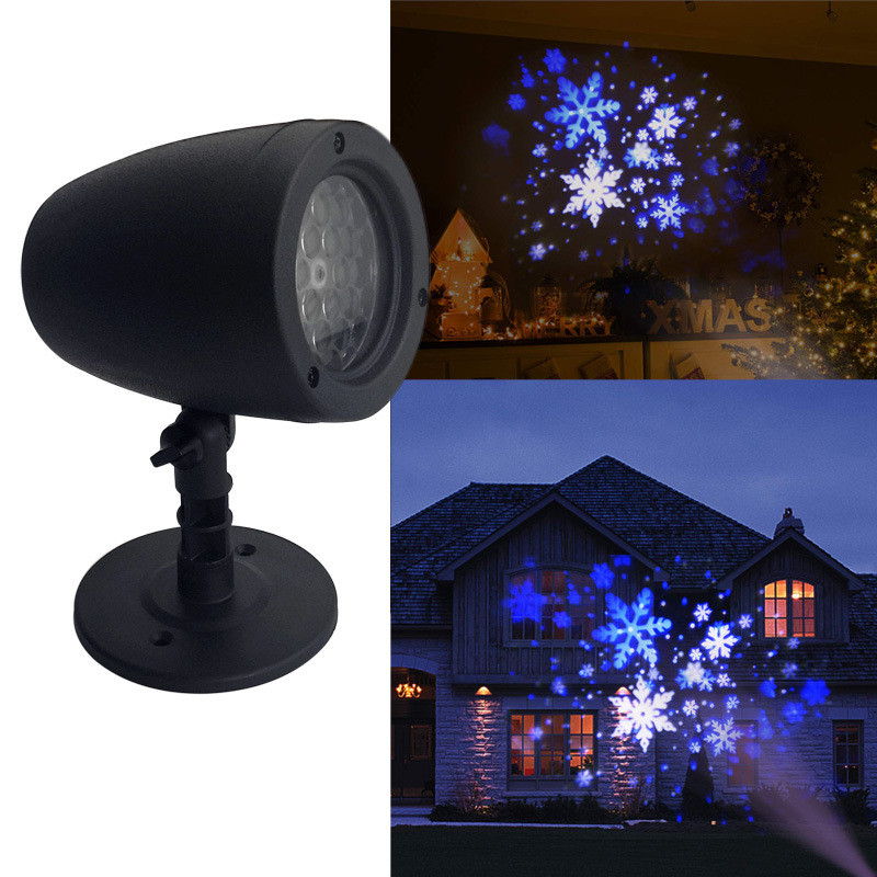 4W Christmas Snowflake LED Projector Lights Stage Effect Lighting Outdoor Garden Landscape Spotlights Christmas Decorative Lamp