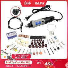HILDA 400W Mini Elektrische Bohrer Für Dremel Rotary Werkzeuge Variable Speed Grinder Schleifen Toolwith Gravur Zubehör Mini Bohrer