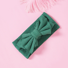 1pcs Cute Stretchy Hair Accessories Knitted Bow Headbands for Girls Fashion Elastic Wide Turban Head Wrap Haarbands